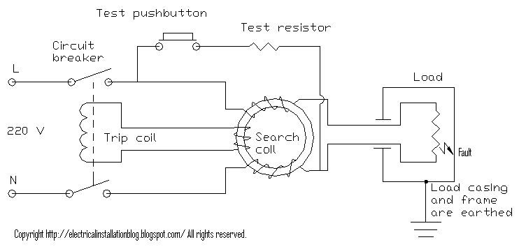 Connection diagram for elcb electrical installations elcb circuit asfbconference2016 Image collections