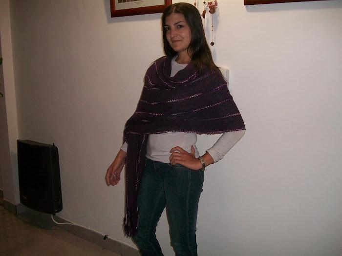 Pashmina con cintas