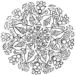 Mandala Coloring Pages Therapy Coloring Pages