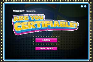 Jogo Microsoft Are You Certifiable?