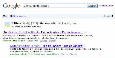 Nascer sol Rio de Janeiro