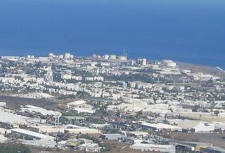 Vue du dessus de la ville du Port depuis les hauteurs de La Possession