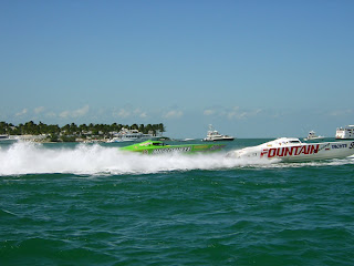 Fountain Marine power boat racing in the Offshore Powerboat Championship.