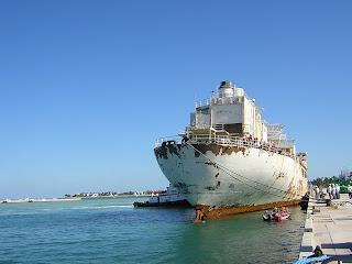 USS Vandenberg in Key West - dockside at the Truman Waterfront