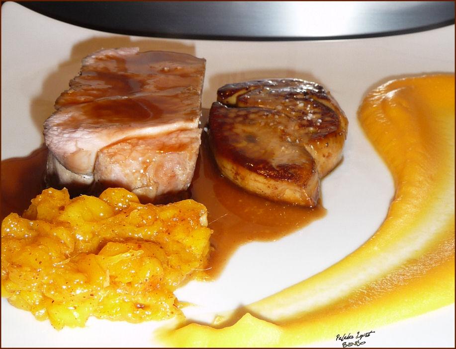 Lou paladar lepet noix de veau foie gras chutney de for Chutney de pommes pour foie gras