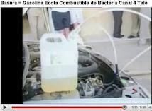 Basura = Gasolina Ecologica. Clikc en imagen a blog adicional