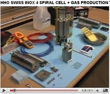 HHO SWISS INOX 4 SPIRAL CELL + GAS PRODUCTION TESTS