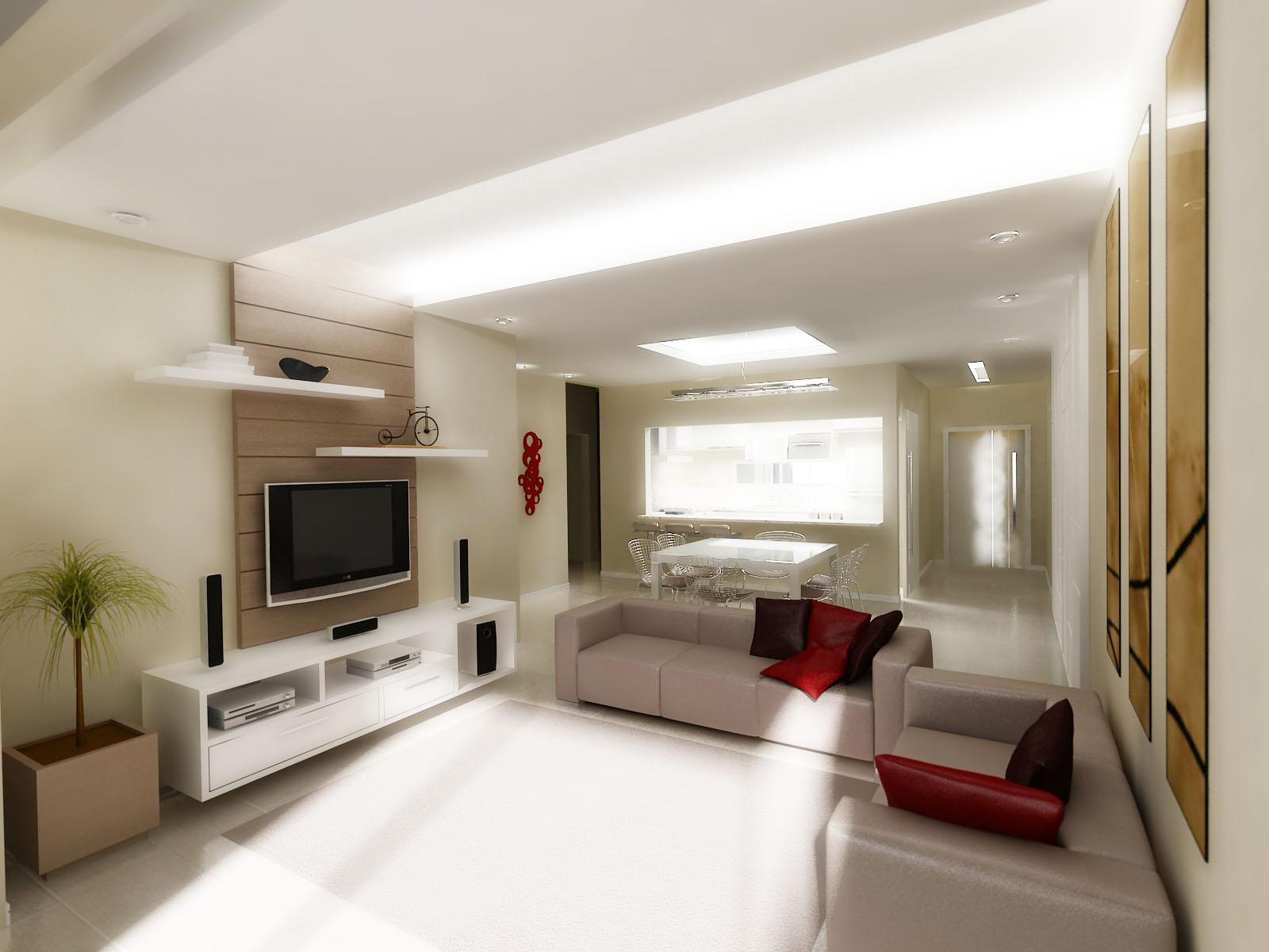Living Sala de Jantar e Cozinha Integradas I #A72524 1600 1200