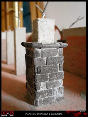 Domus project: costruzione 12: pilastri in pietra