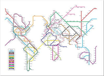 World Metro Map Art
