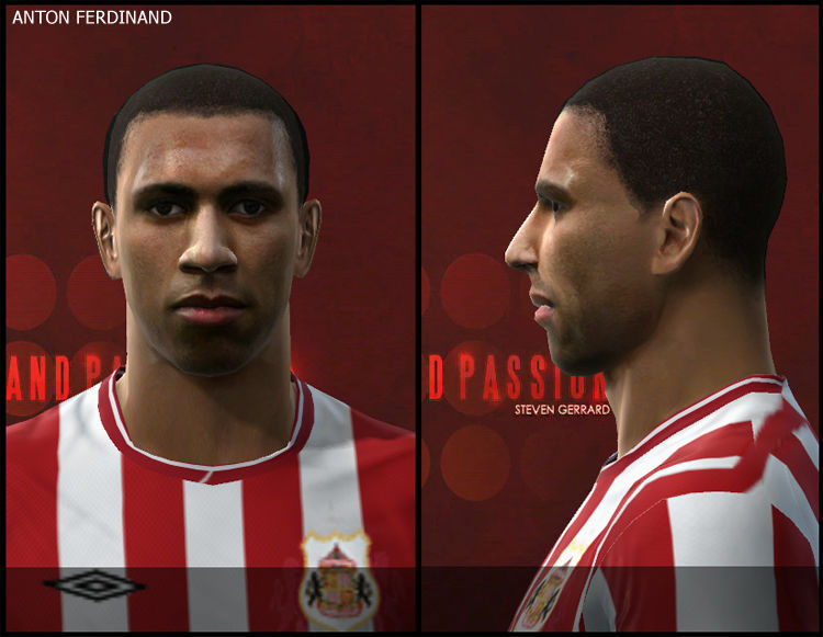 Pes 2010 - Anton Ferdinand Face Preview