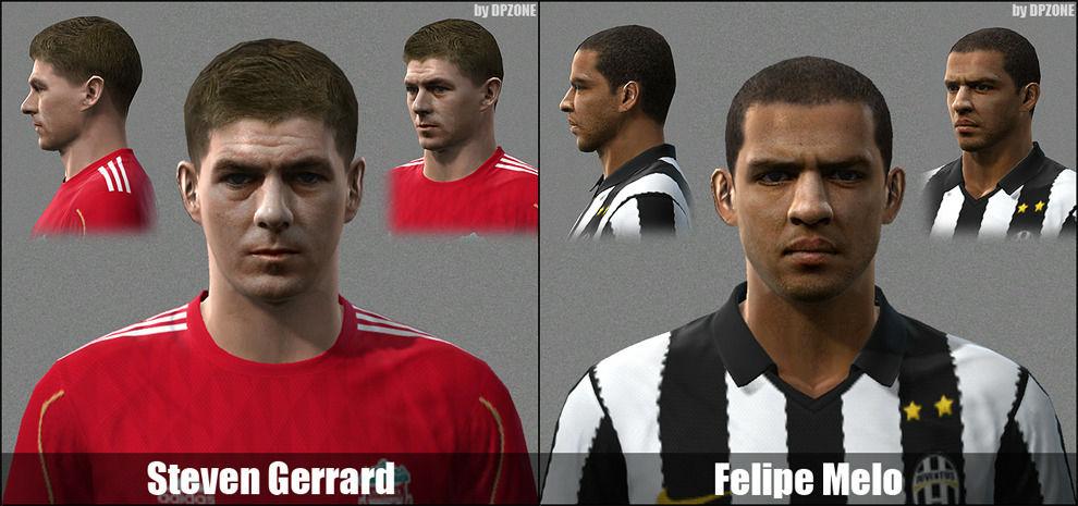 Pes 2010 - Gerrard & Felipe Melo Faces Preview
