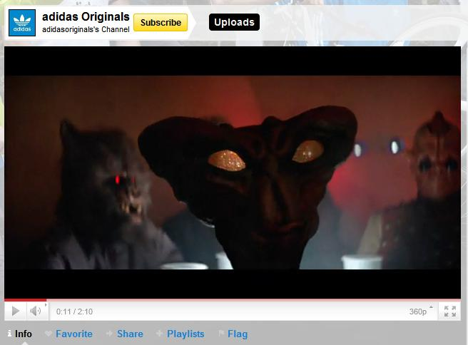 The folks at Adidas responded with a Star Wars Cantina video on June 12.  This video has only 3.5 M views to date - definitely the creative weakling  of the ...