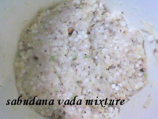 adding ingredients to Sabudana Vada
