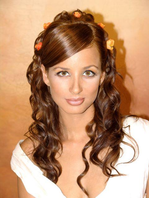 Beautyhomepremium el peinado la tiara y las flores el - Peinados actuales de moda ...
