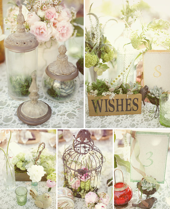 Vintage Shabby Chic Wedding Decoration