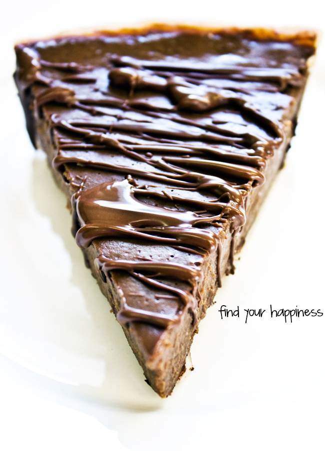 Find Your Happiness: Recipe: Triple Chocolate Pumpkin Pie