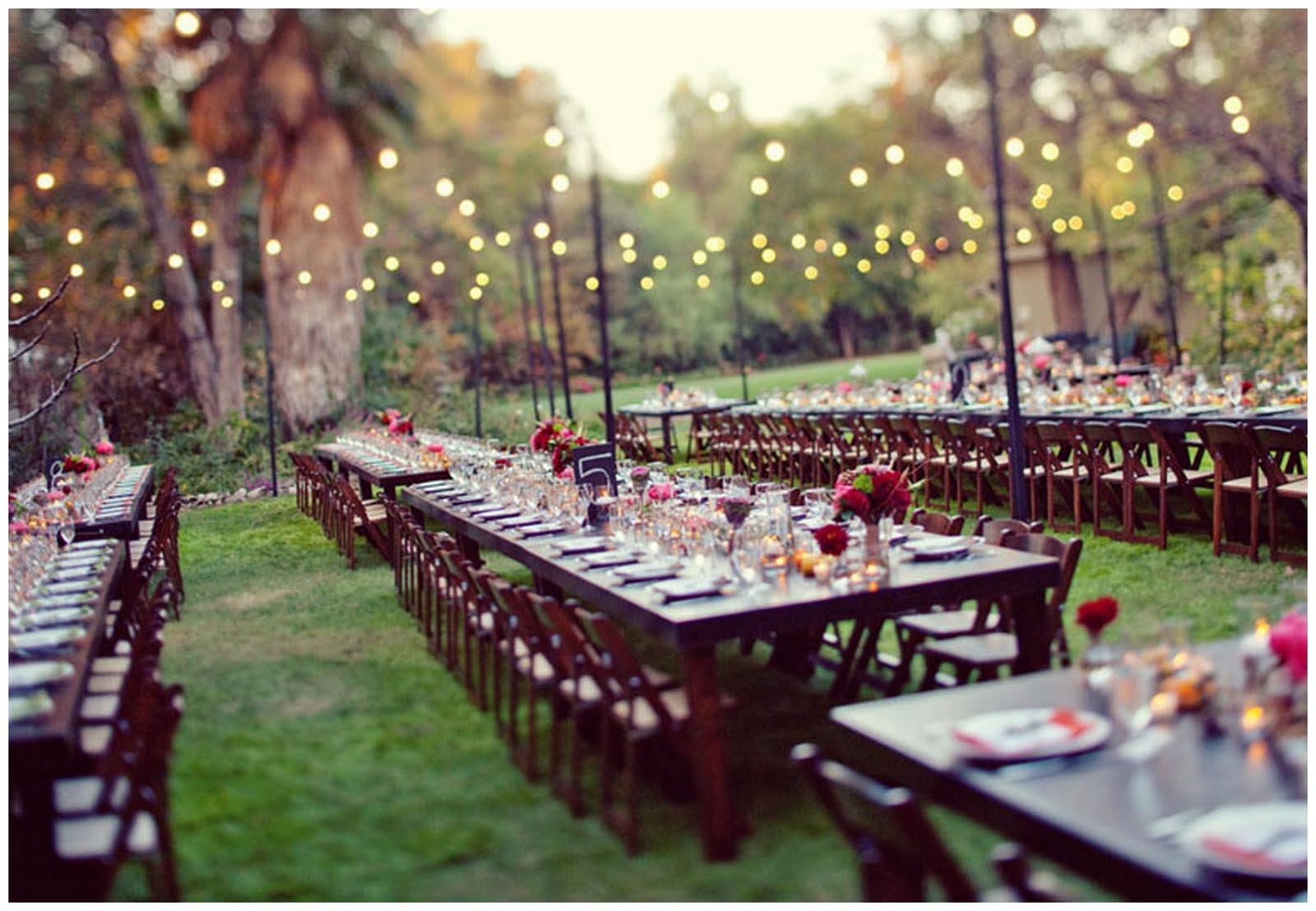 Real enchanted garden wedding kelly steve for Outdoor wedding reception ideas