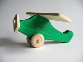 Green Wooden Airplane