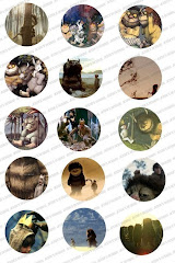 Where the Wild Things Are Bottlecap Images Collage Sheet