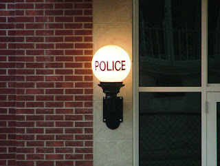 station vintage light police
