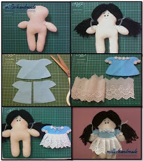 a simply  process of basic glove doll making.