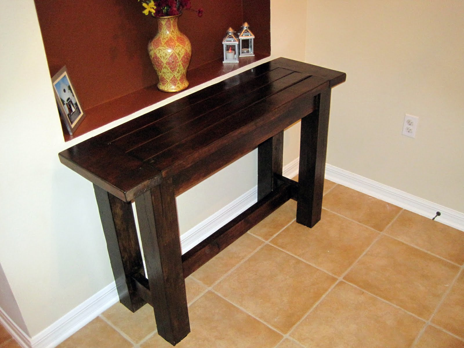 Anyone wanna see our $500 Pottery Barn console table
