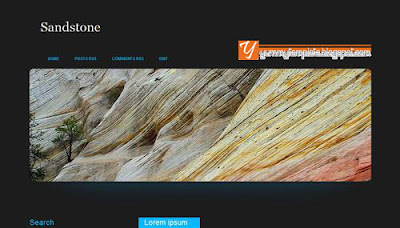 Sandstone, 3 Column, Free Template Download