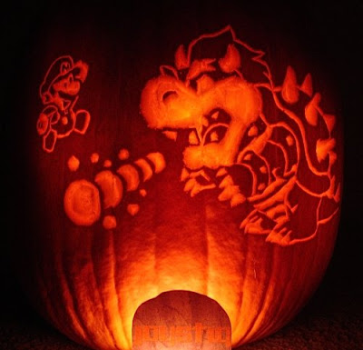 Mario vs Bowser Pumpkin