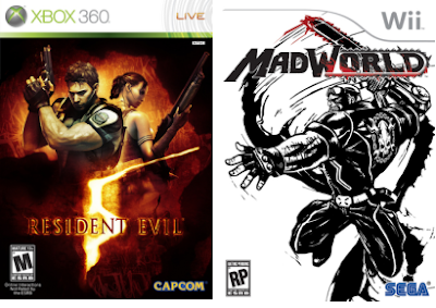 Resident Evil 5 and MadWorld Cover Art