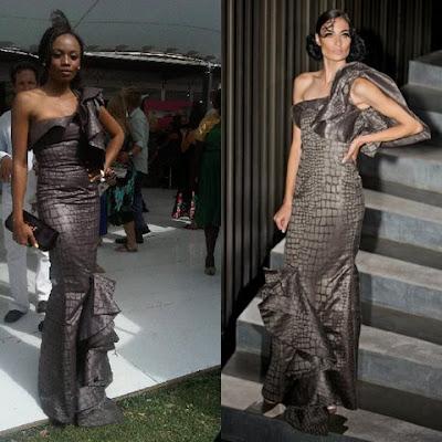 Site Blogspot  Evening Hairstyles on Fashion Magazine Models  Who Wore What  Bonang Matheba At The J B Met