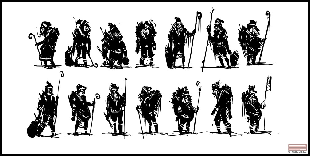 Character Concept Design Process : Mark molnar sketch of concept art and illustration
