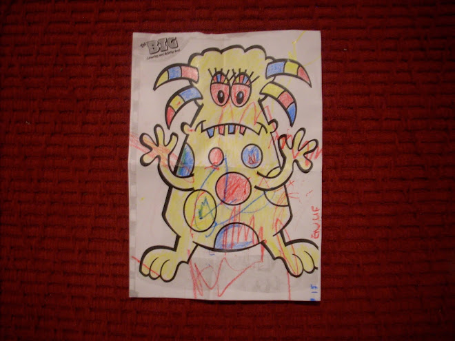 colouring book monster (baby in a bar)