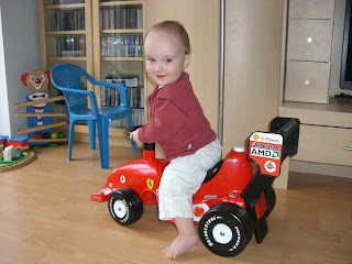 cailleau julien riding his new ferrari bobby car. Black Bedroom Furniture Sets. Home Design Ideas