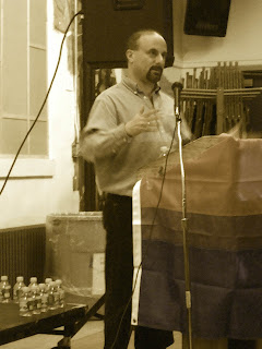Ron Suresha at Bi Lines reading, NYC