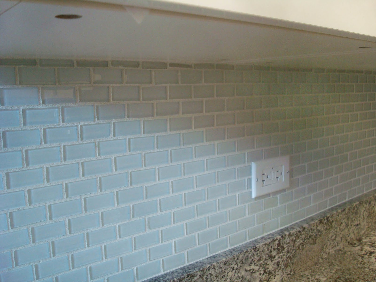 Wavy Glass Subway Tiles for Kitchen Backsplashes