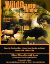 Wild game dinner at Auburn is