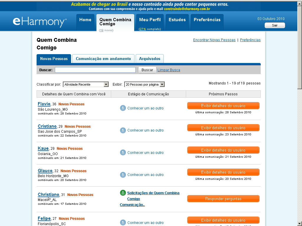 eharmony offers many different types of plans for you to choose from. They offer 1, 3, and 6 month membership plans, and are also one of the only online dating sites to offer a 12 month plan.5/5.