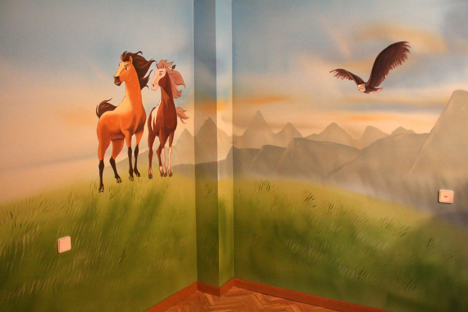 Paredes de cuento mural de la pelicula spirit de disney for El mural pelicula online