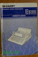 Sharp PA-W1410 Personal Word Processor Operation Manual