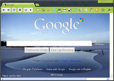 tampilan google yang sudah diubah