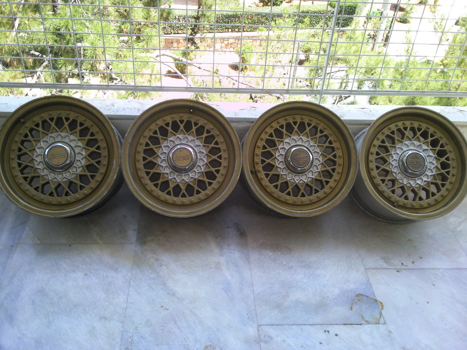 A set of 15x7 BBS wheels et25!