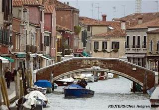The island of Murano, near Venice