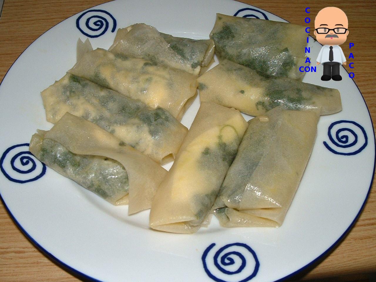 Cocina con paco rollitos de espinacas con pasta filo - Que hacer con la pasta filo ...