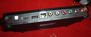 WDTV Live Hub rear showing connection ports