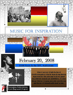 music for inspiration flyer