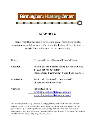 Birmingham Museum flyer