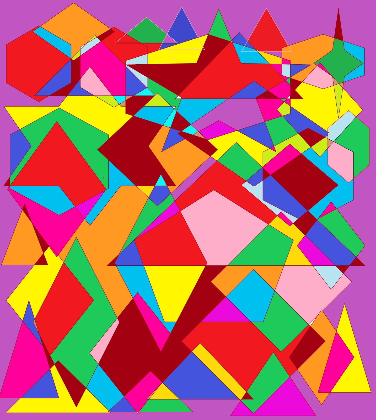 Shape Art : Abstract art
