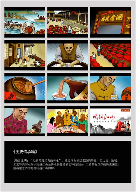 story board for advertising company
