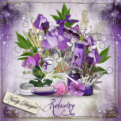 "Free scrapbook kit ""Relaxing"" from Nanly Design - Full size"